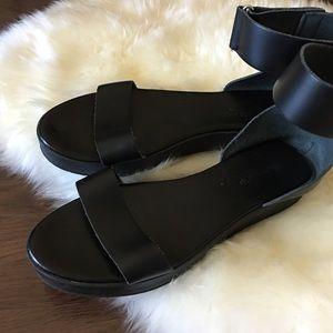 Top shop Black Ankle Strap Sandals