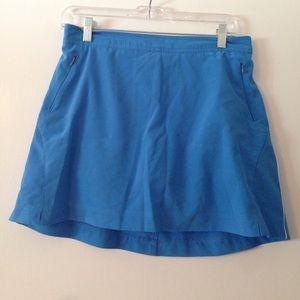 Danskin Now Pants - Blue reading skort with pockets