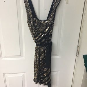 Express Dresses & Skirts - Black and gold sequin dress