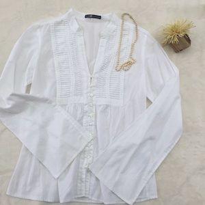 love squared  Tops - White bottom down shirt.