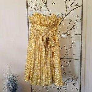 BCBG Max Azria Strapless Silk Bubble Dress