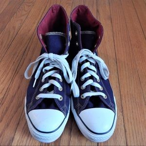 Converse Other - Men's Navy and Red High Top Converse Sz 9