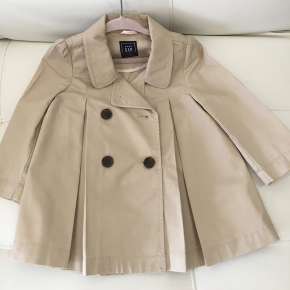 6e297ef2c230f GAP Other - Baby Gap trench coat beige sz 12-18 months