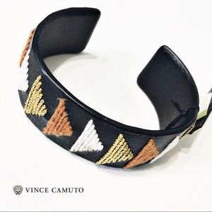 Vince Camuto Jewelry - NWT Vince Camuto Leather Triangle Bracelet