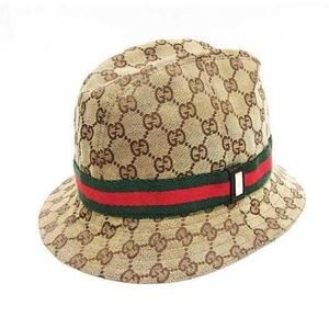 Authentic Gucci Monogram GG Signature Web Hat