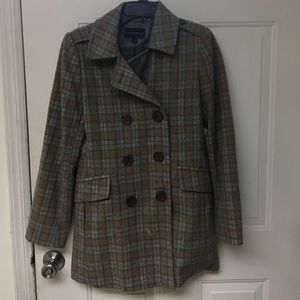 Banana Republic Jackets & Blazers - Plaid Banana Republic Wool Pea Coat