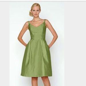 Jenny Yoo Dresses & Skirts - Jenny Yoo Dress Green Spaghetti Strap Vneck Aline