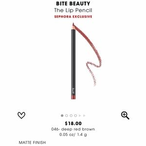 BITE BEAUTY Other - NEW BITE BEAUTY LIP LINER PENCIL DEEP RED BROWN 46
