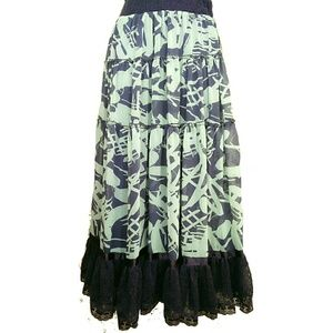 Lapis Dresses & Skirts - NWT LAPIS Tiered Long Skirt w/Lace Accent