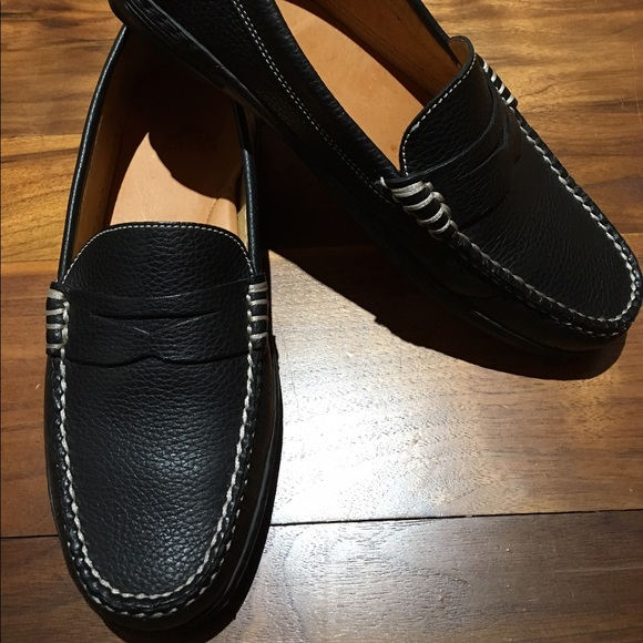 12880dcfa82 Peter Millar Black Leather Penny Loafers Size 7.5.  M 590f8933d14d7b217e0c2320