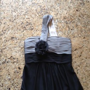 JS Collections Dresses & Skirts - JS Collections black gray one strap evening dress