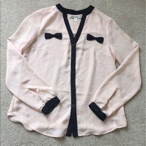 Lauren Conrad bow blouse - size small