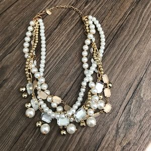 Jewelry - Pearl and Rhinestone Statement Necklace
