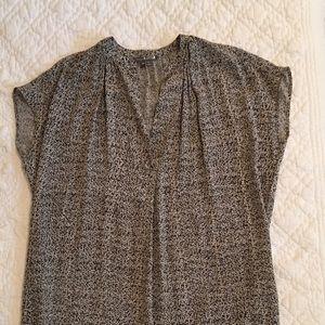 Vince silk mini dress tunic XS