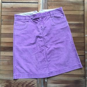 GAP Dresses & Skirts - Gap Purple Corduroy Fitted Mini Skirt