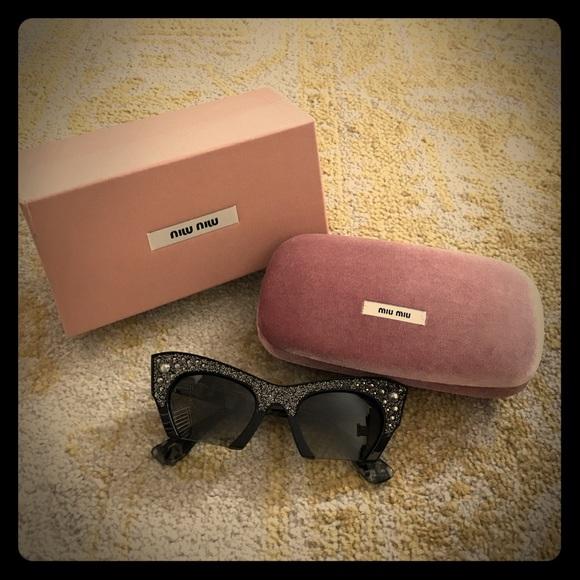 40d5e1ad04f8 Miu Miu SMU02Q Semi-Rimless Cat frame sunglasses.  M 590f8d66fbf6f9dc5901a99b. Other Accessories ...