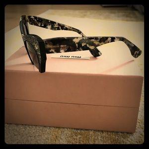 181be0b01518 Miu Miu Accessories - Miu Miu SMU02Q Semi-Rimless Cat frame sunglasses