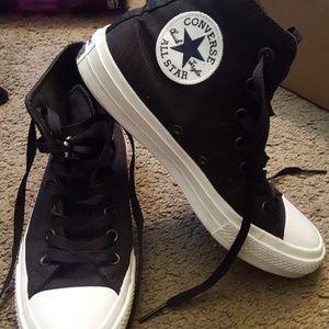 Converse Shoes - Black Converse ll High Tops Men's 5 / Women's 7