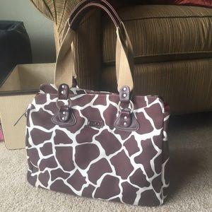 OIOI Cocoa Giraffe Tote Diaper Bag