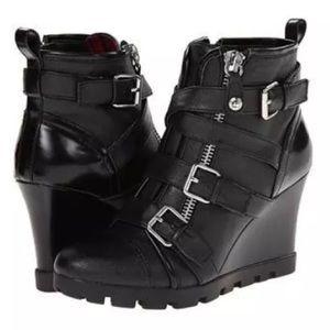 New Guess Lehana Moto Boots Size 9