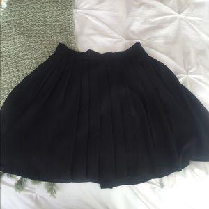 Flare Pleated Skirt