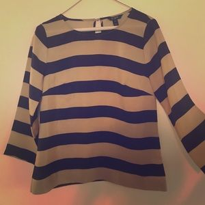 J Crew Factory 3/4 sleeve striped blouse