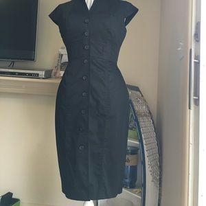 Calvin Klein  button down cotton sleeveless dress