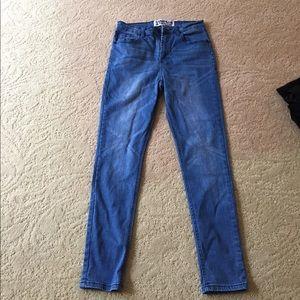 Denim skinny jeans high waisted