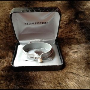 Accessories - NWT Stainless Steel Charm Bangle Bracelet