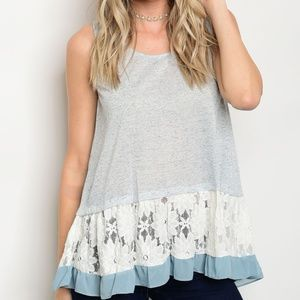 Tops - Lace Detail Tank