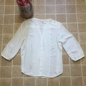 Skies are Blue Tops - Size Small Skies are Blue White Blouse