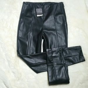 Topshop Pants - NWT Topshop High Waisted Faux Leather Skinny Pants