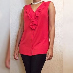 Nine West Tops - 🛍️ Sale 🛍️ Nine West Pretty in Red Shirt