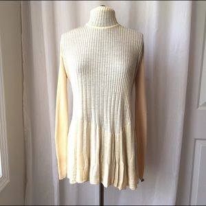 Sonia Rykiel Tops - Sonia Rykiel Paris Butter Cream Pleated Wool Top
