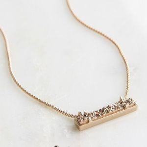 Kendra Scott rose gold drusy bar necklace