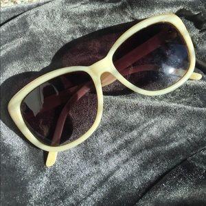 Anthropologie sunglasses, cream 100% UV protection