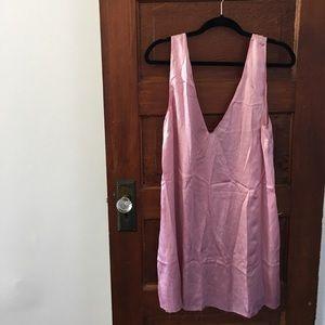 Reformation Pink Silk Mini Dress