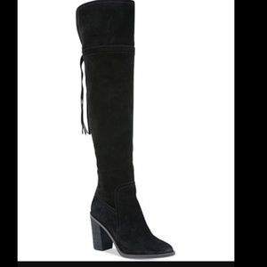 Franco Sarto Shoes - NEW Franco Sarto Ellyn Over the Knee Boots Suede 8