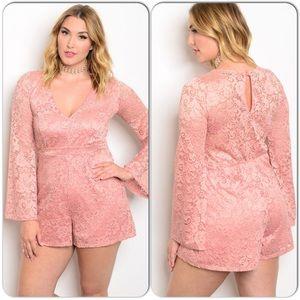 Boutique Pants - Plus Rose Romper-Host Pick