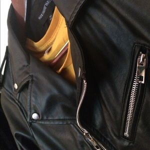 Jackets & Blazers - VEGAN Leather Moto Biker Punk Belted Jacket
