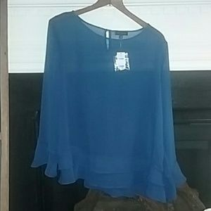The Limited Beautiful blue sheer blouse
