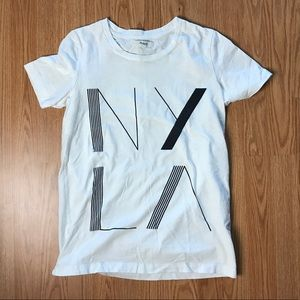 Madewell NY/LA t-shirt size XS black/white