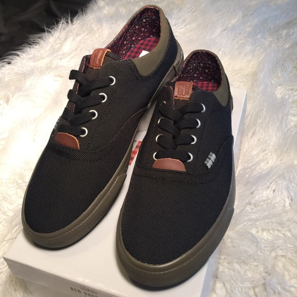 New Mens Ben Sherman Navy Lestar Canvas Shoes Lace Up