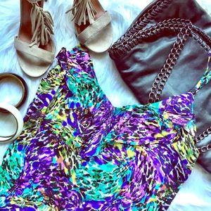 Dresses & Skirts - lightweight watercolor print dress