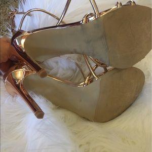 0d8c4d2551c Shoes - Steve Madden Satire Strappy Sandals Rose Gold 6.5