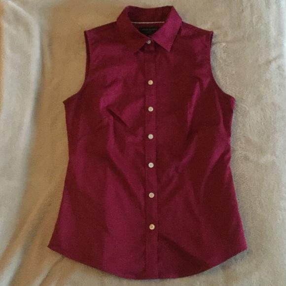 1e747c43f3458 Banana Republic Tops - Banana Republic Sleeveless Button Down Dress Shirt