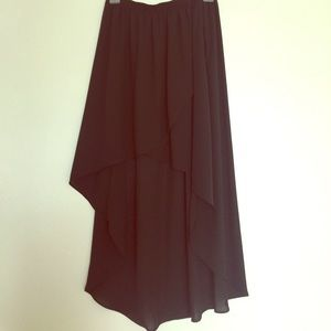 Tulip front hi low skirt