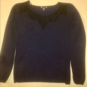 Guess navy blue sweater