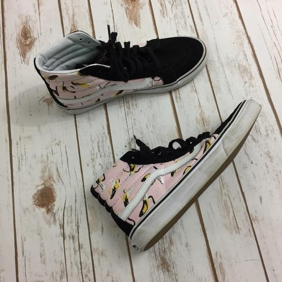 fe9cbc2eb88 Vans Sk8 Hi Slim Suede Canvas Banana Sneakers. M 590fac6536d59442120ca61d