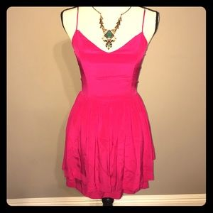 Greylin Dresses & Skirts - Greylin Hot Pink Silk Dress